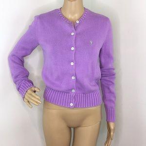 Ralph Lauren Sport Purple Cardigan